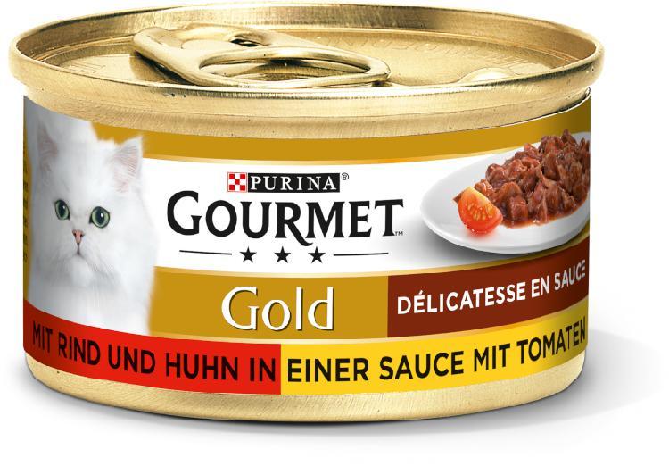 Gourmet gold délicatesse en sauce 12x85g bœuf et
