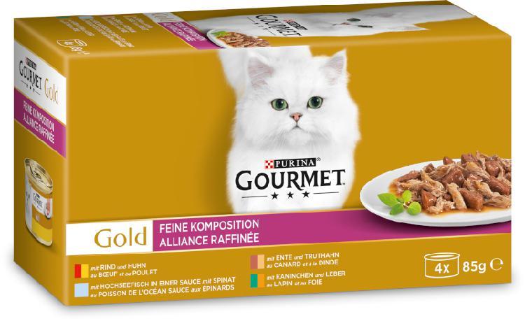 Gourmet gold fine composition 4x85g