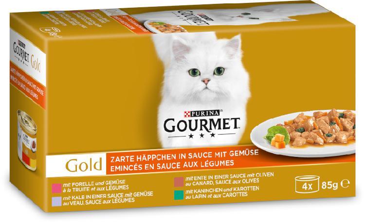 Gourmet gold tendres bouchées 4x85g