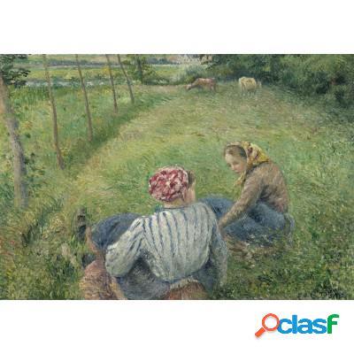 Camille Pissarro: Jeunes Paysannes se Reposant dans les Champs Près de Pontoise, 1882