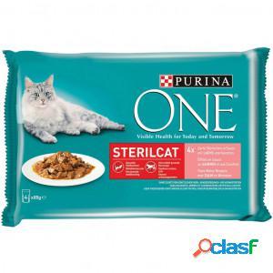 Purina one sterilcat saumon sachet 85 gr pour chat 24 x 85 gr