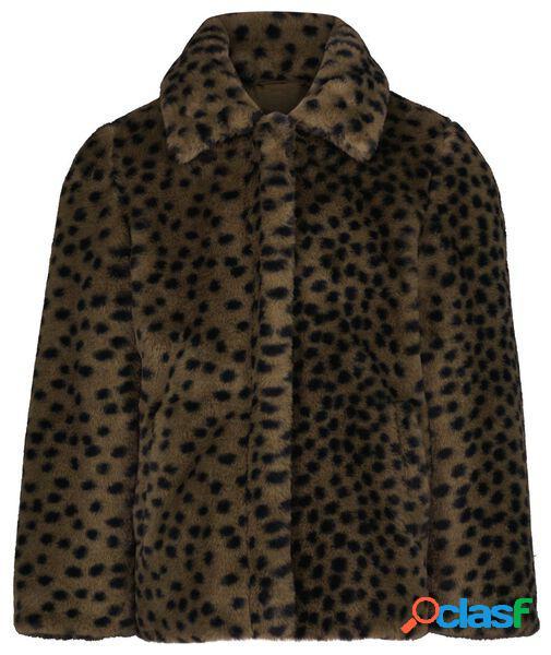 Hema manteau enfant teddy vert armée (vert armée)