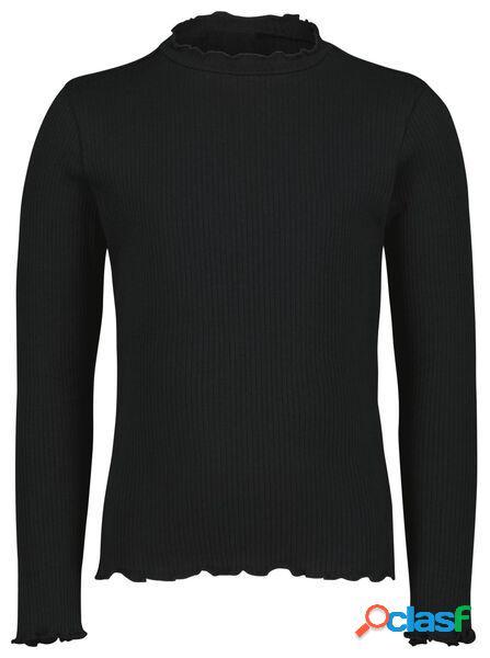 Hema t-shirt enfant côtelé noir (noir)