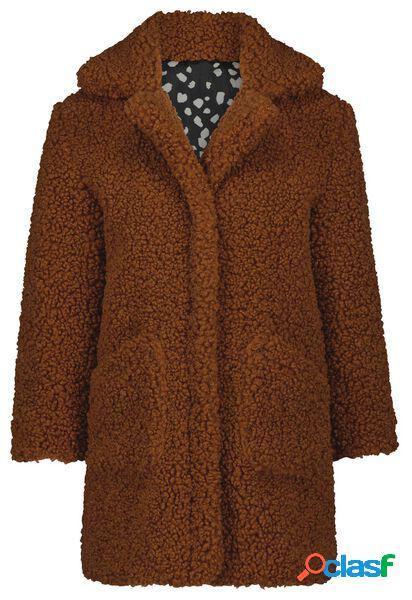 Hema manteau enfant peluche marron (marron)