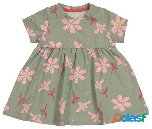 Hema robe bébé fleurs vert (vert)