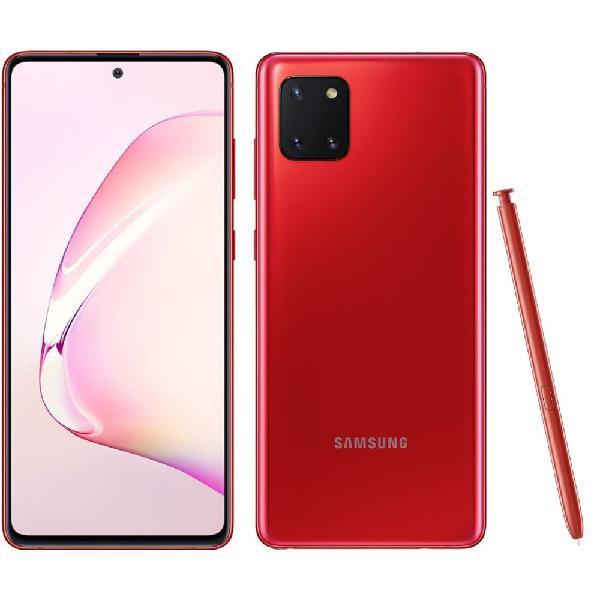 Samsung - galaxy note 10 lite - 128 go - rouge cardinal-