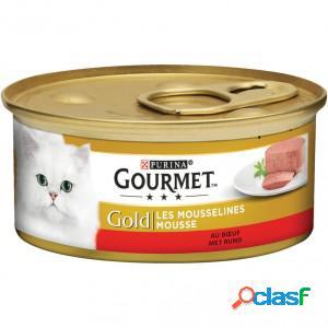 Gourmet gold chat mousse de boeuf 2 x 24 boites (85g)