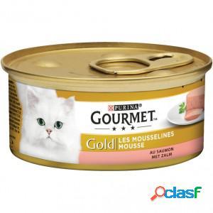 Gourmet gold chat mousse de saumon 2 x 24 boites (85g)