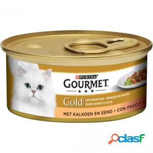 Gourmet gold chat tendres bouchées dinde et canard 2 x 24 boites (85g)