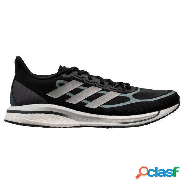 Adidas chaussures de running supernova + - noir/argenté/bleu
