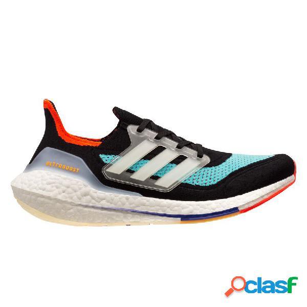 Adidas chaussures de running ultra boost 21 - noir/blanc/bleu