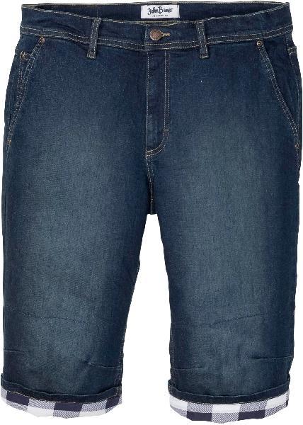 Bermuda long en jean extensible regular fit