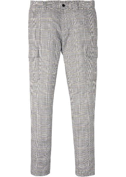 Pantalon cargo extensible slim fit, tapered