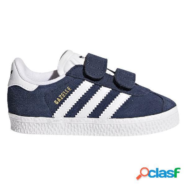 adidas Originals Chaussures Gazelle Velcro - Bleu Marine/blanc Enfant