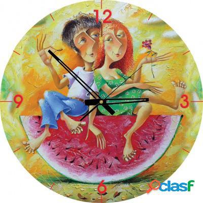 Puzzle Horloge - Je t'aime, un peu, beaucoup, passionément... (Pile non fournie)